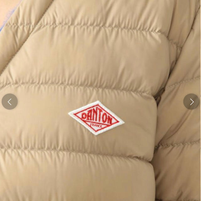DANTON(ダントン)のダントンコート36 今季物DANTONインナーダウン ロングコート ベージュ レディースのジャケット/アウター(ダウンコート)の商品写真