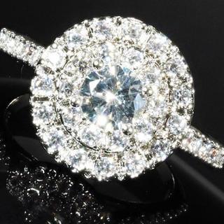 【送料無料】 czダイヤモンド リング 指輪 プレゼント 高級仕上げ 特大(リング(指輪))