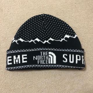 ザノースフェイス(THE NORTH FACE)のノースフェイス supreme コラボ ニット帽(ニット帽/ビーニー)