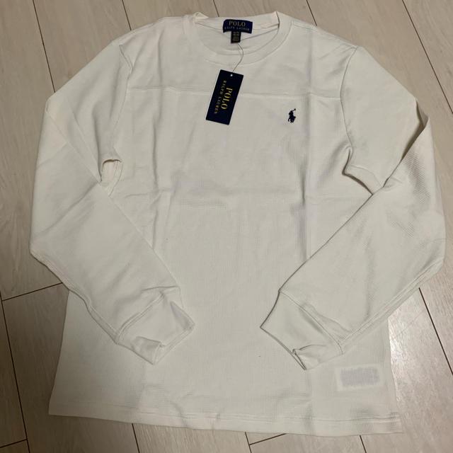 POLO RALPH LAUREN(ポロラルフローレン)のポロラルフローレン ワッフルニット 長袖カットソー メンズのトップス(Tシャツ/カットソー(七分/長袖))の商品写真