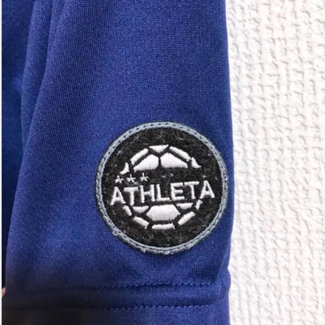 ATHLETA(アスレタ)のATHLETA アスレタ Tシャツ Mサイズ ブルー スポーツ/アウトドアのサッカー/フットサル(ウェア)の商品写真