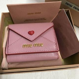 miumiu - MIUMUミュウミュウニつ折り財布