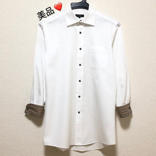 BURBERRY - 美品.日本製.バーバリーブラックレーベル 長袖シャツ39