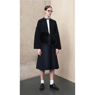 Drawer - ドゥロワー  drawer ウールバックジップ スカート