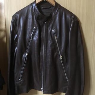 マルタンマルジェラ(Maison Martin Margiela)の期間限定値下げ未使用定番マルタンマルジェラ八の字レザーライダース46 (ライダースジャケット)