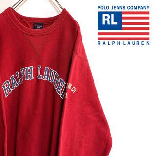 POLO RALPH LAUREN - 古着 ポロジーンズ スウェット トレーナー ラルフローレン ビッグロゴ 刺繍ロゴ