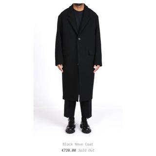 ルメール(LEMAIRE)のlownn black nove coatオーバーコートチェスター(チェスターコート)