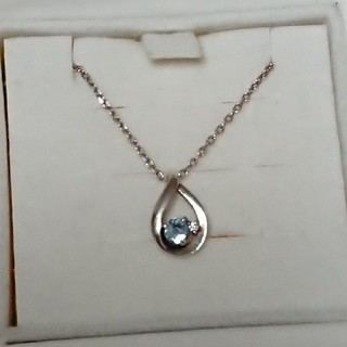 4℃ - 4℃ アクアマリン ダイヤモンド ネックレス