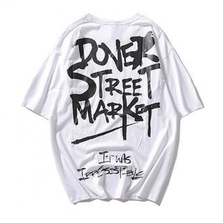 新品☆ Tシャツ シャツ 5分袖 カジュアル ストリート プリント ホワイト(Tシャツ/カットソー(半袖/袖なし))