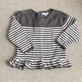 ザラ(ZARA)の美品フランス子供服 Vertbaudet コットンボーダーニット 24m86cm(ニット/セーター)