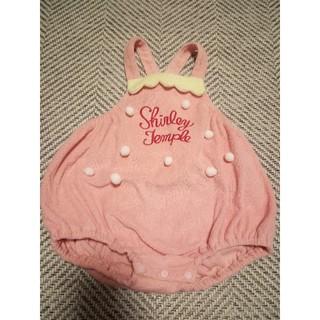 シャーリーテンプル(Shirley Temple)のシャーリーテンプル いちごロンパース ピンク 70 うさぎ好きも(ロンパース)
