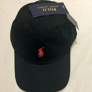 POLO RALPH LAUREN - 新品タグ付 ポロ・ラルフローレン 帽子 ブラック/レッドポニー 高品質 残り僅か
