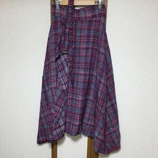 ミラオーウェン(Mila Owen)のクーポン価格 ツイードヘムラインロングスカート(ロングスカート)