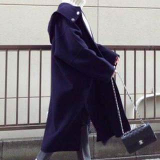 ルシェルブルー(LE CIEL BLEU)のルシェルブルー ネイビーフードコート(ロングコート)