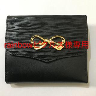 ハナエモリ(HANAE MORI)のHANAE MORI  リボン財布 レディース 黒 新品(財布)