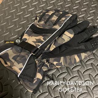 ハーレーダビッドソン(Harley Davidson)のHARLEY-DAVIDSON GORE-TEX グローブ Lサイズ 迷彩柄(手袋)