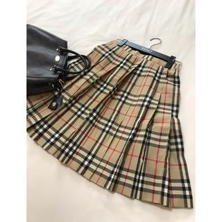 BURBERRY - 美品 バーバリー ロンドン スカート 150 チェック ベージュ フォーマル