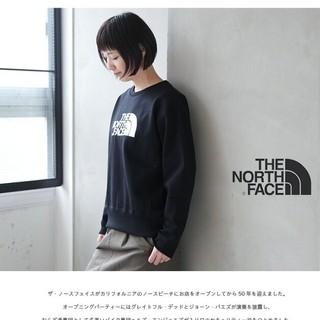 ザノースフェイス(THE NORTH FACE)の新品タグつき ノースフェイス スウェット ブラック(トレーナー/スウェット)