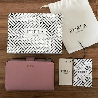 Furla - 新品!フルラ 二つ折り財布 くすみピンク