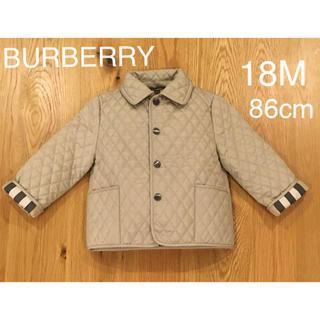 BURBERRY - バーバリーチルドレン 18M キルティングコート