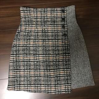 Lily Brown - 即購入可能★ 新品 Lillybrown ツイードチェック台形スカート