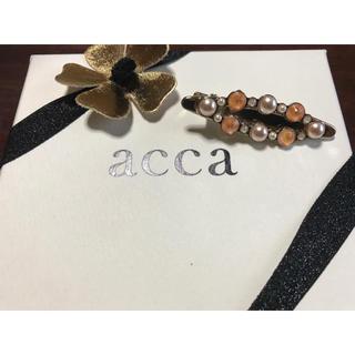 acca - acca♡メタリックコード ピーチパール アーモンドクリップ