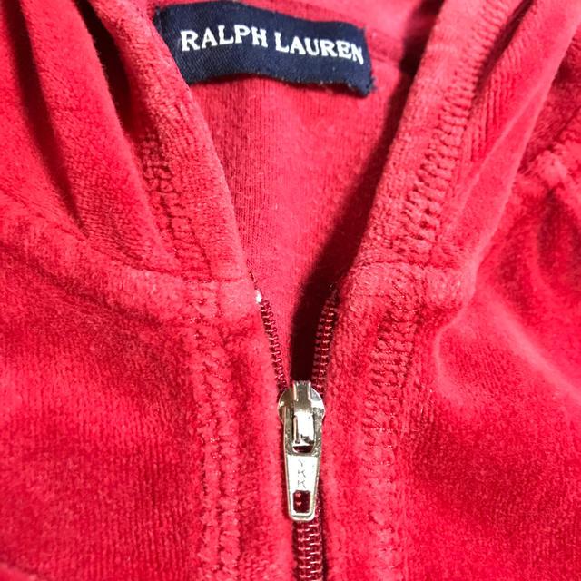 Ralph Lauren(ラルフローレン)の美品ラルフローレンのベロアベルベッドのような暖かいパーカー100ぐらいクリスマス キッズ/ベビー/マタニティのキッズ服男の子用(90cm~)(ジャケット/上着)の商品写真