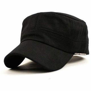 激安!定価3200円!シンプル 帽子 フリーサイズ ブラック 新品未使用(キャップ)