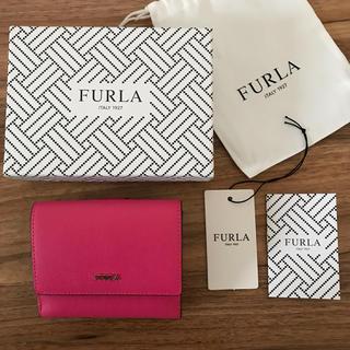 Furla - 新品!フルラ 二つ折り財布 ピンク