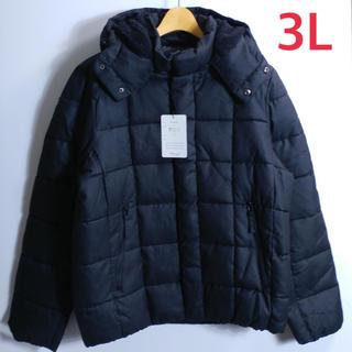 新品 メンズ 3L ビックサイズ 中綿ジャケット 黒(ダウンジャケット)