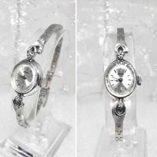 セイコー(SEIKO)のアンティーク 華奢なダイヤモンド カクテルウォッチ 23石 WGP(腕時計)