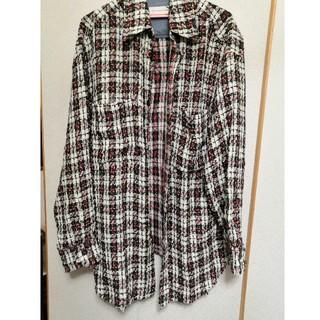 バルマン(BALMAIN)のフェイスコネクション オーバーサイズ ツイードシャツ(シャツ)