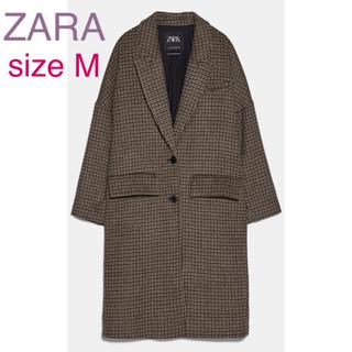 ZARA - ZARA チェック柄オーバーコート