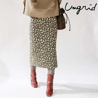 Ungrid - Ungrid レオパードタイトスカート 豹柄 アニマル柄