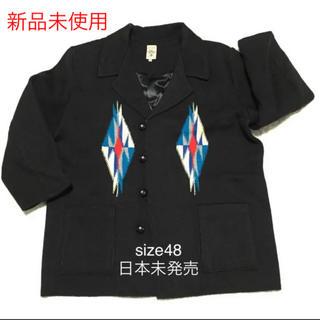 大きいサイズ希少 新品 ORTEGA'S チマヨ ジャケットコート ブラック(ピーコート)