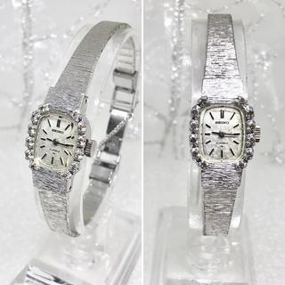 セイコー(SEIKO)のゴージャス アンティーク 天然ジルコン入り ドレスウォッチ  美品(腕時計)