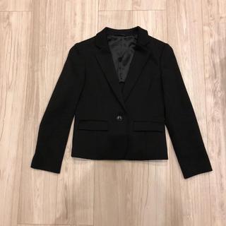 アナイ(ANAYI)のANAYIアナイ黒ブラックウール毛ジャケットテーラード前1つボタン36袖口折れる(テーラードジャケット)
