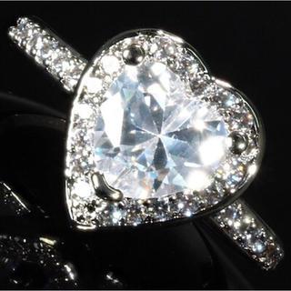 【送料無料】 czダイヤモンド リング 指輪 ハート プレゼント 最高 高級仕上(リング(指輪))