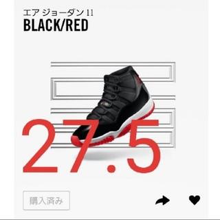 NIKE - エアジョーダン11 BLACK/RED