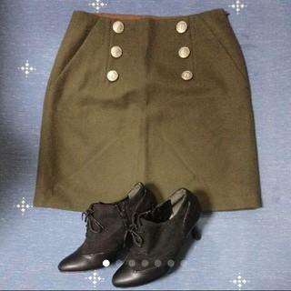 ユナイテッドアローズ(UNITED ARROWS)のユナイテッドアローズ カーキウールスカート(ひざ丈スカート)