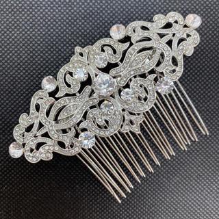 【高品質】ウェディングラインストーンヘアアクセサリーヘッドドレス髪飾り