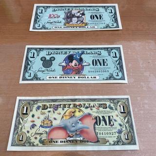 ディズニー(Disney)のディズニーダラー 1ドル紙幣3枚(貨幣)