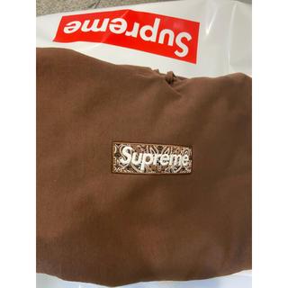 シュプリーム(Supreme)のXLサイズ supreme boxlogo hooded  ブラウン(パーカー)