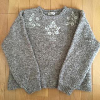 SM2 - SM2  ブークレ刺繍ニット モカ