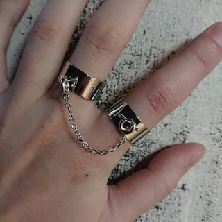 2連 リング 指輪 フリーサイズ(リング(指輪))