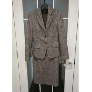 UNTITLED アンタイトル スカートスーツ ツイード 茶系 サイズS
