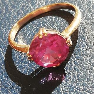 紫色 レトロ K18 指輪 リング 13号(リング(指輪))