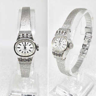 セイコー(SEIKO)の超美品 天然ジルコン アンティークウォッチ 手巻き 1971年製(腕時計)