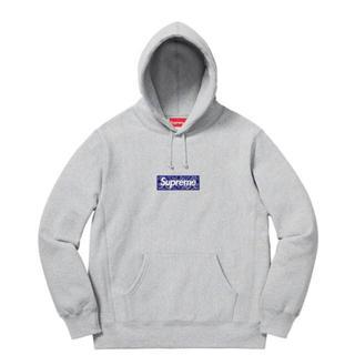 Supreme - Bandana Box Logo Hooded Grey M
