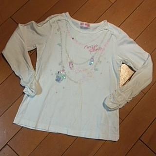 mezzo piano - メゾピアノ ネックレスシャツ サイズ120